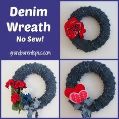 Picmonkey Collage2 Denim Wreath   No Sew!