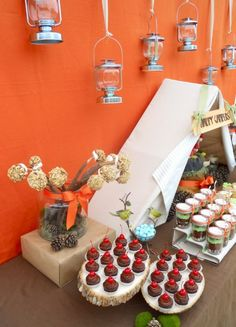 Camping Themed Parties - A Wedding and a Baby Shower! - Kara's Party Ideas - The Place for All Things Party