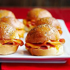 ham sliders with pineapple-apricot jam