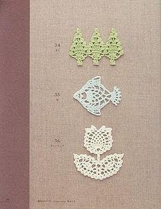 patterns ponto de, tree, crochet motif, crochet mini, de crochê, sandra ponto, lace patterns, appliqu motif, crochet appliqu