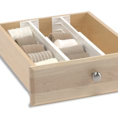 Spring loaded drawer organizers! Why has no one told me about these before???