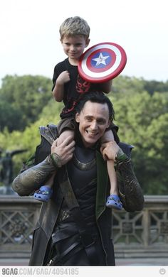 Loki and Little Captain America  <3
