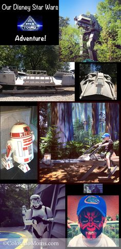 A collage of our photos from Star Tours and Hollywood Studios at Disney World