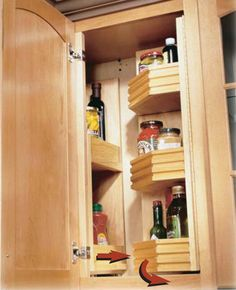 Blind corner solutions (and other kitchen organization solutions)