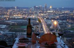 Primavista Restaurant of Price Hill, Cincinnati. Awesome views! Was called The Sovereign once upon a time.