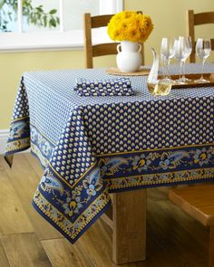 "Marseille Tablecloth, Khaki, 70"" x 70"""