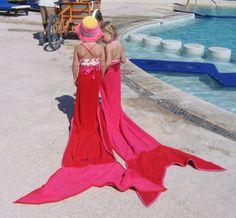 towels- mermaid party