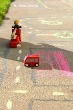 A chalk road.... the kids would loove this!