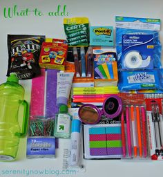What to Put in a Teacher's Survival Kit, Serenity Now blog