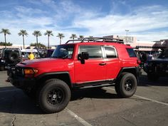 Toyota FJ Cruiser  all RED