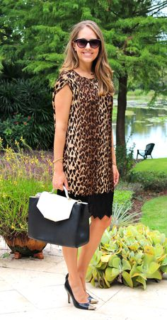 J's Everyday Fashion: Love this shift dress for fall - the leopard is so chic and easily takes you from day to night!