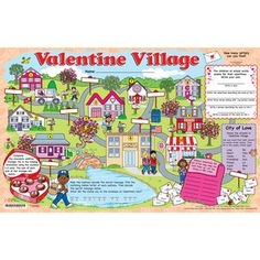 Valentine Village Activity Mats