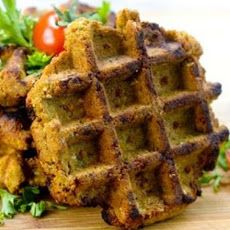 Grilled Falafel Recipe using waffle iron. Serve with hummus and veggies??