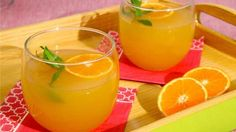 Sparkling Tangerine Punch - Perfect for a baby or wedding shower!