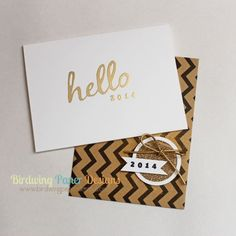 Hello 2014 carved by Birdwing Paper Designs