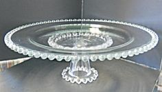 Imperial Glass Candlewick Cake Stand. Click on the image for more information. boopi glass, beauti glasswar, candlewick glass, cake plate, cake stand