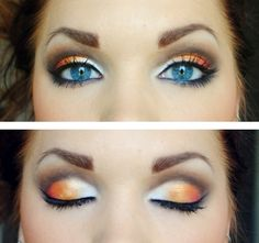 Gorgeous! Can be tried with green shadow for brown eyes
