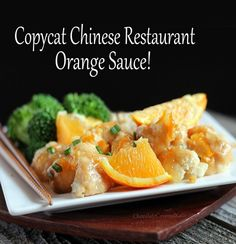 healthier chinese orange sauce - use on chicken or like she does, on roasted cauliflower!