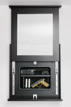 Must. Have. This. NOW!!  Series 1410 Lockable Mirror Opened