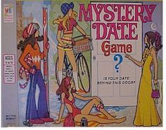 "1970's version of the ""Mystery Date Game."" I remember loving to play this game. I always hated getting the ""dud."""