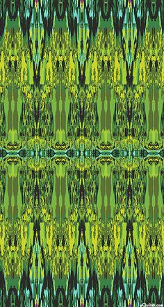 'Ikat' from the 'Fabrique-istan' collection by Paula Nadelstern for Benartex.-Kelly Green