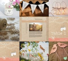 Vintage Bunting and Love Birds Wedding Styling Mood Board from The Wedding Community