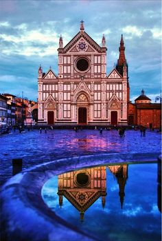 Santa Croce, Florence, Italy >>> I stayed for a month right down the street.  Really miss seeing this church every day!