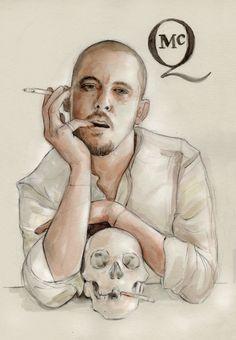 Illustration: Alexander McQueen ~ Illustration by Helen Green