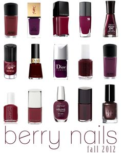 Berry Nails for Fall 2012...