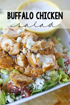 Spicy Buffalo Chicken Salad - YUMMY! lilluna.com