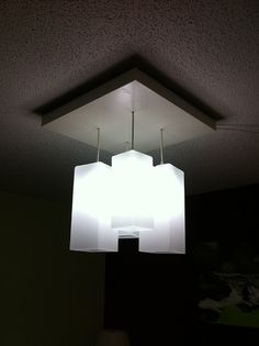 Turning cheap Ikea lamps into custom lighting.