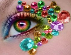 rhineston, makeup tools, eye makeup, halloween costumes, eye colors, candi, diamond, contact lens, rainbow