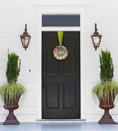 A symmetrical entrance is any easy way to boost curb appeal. See more entryway ideas: http://www.bhg.com/home-improvement/exteriors/curb-appeal/ways-to-add-curb-appeal/?socsrc=bhgpin031113symmetricaldoor=3