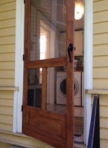 door weather, the doors, cottag, back doors, laundry porch, back porches, farm houses, decor idea, screen doors