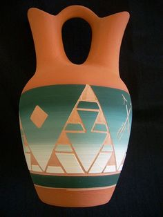 10 inch high wedding vase made by the Sioux tribe of South Dakota.