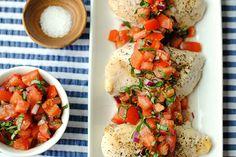 weight watchers, chicken breasts, olive oils, clean eat, sea salt, bruschetta chicken