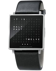 Biergert & Funk bring the literal time to your wristwatch with QLOCKTWO W