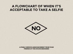 A Flowchart of When It's Acceptable To Take A Selfie