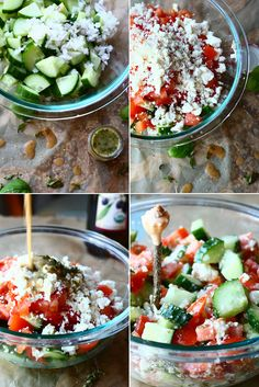 Greek Salad with Homemade Greek Salad Dressing