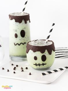 Small mint milkshake