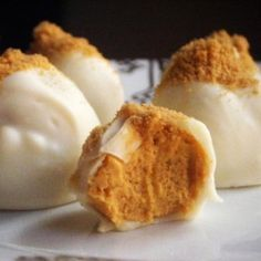 Pumpkin cream cheese truffles. Amazeballs. (Get it?!?) bah.