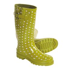 Western Chief Ditsy Dots Rain Boots - Waterproof (For Women) in Lime