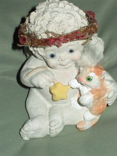 "DREAMSICLES ""LOVE MY KITTY"" ANGEL AND KITTEN FIGURINE"