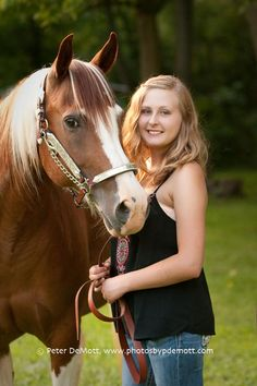 Senior portraits with horse. Equine and senior portrait photographer, Peter DeMott near Dayton, OHIO http//www.photosbypdemott.com