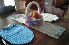 Crochet Easter Runner Pattern - Decorative Easter Runner Pattern