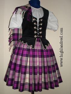 Aboyne with black vest #ross #purple #tartan