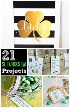 Great Ideas — 21 DIY St. Patrick's Day Projects! The wreath is a good inspiration!!