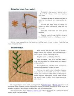 12 Surface Stitches for Beginners