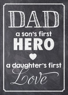 DAD a sons first HERO a daughters first by CornerHouseGraphics