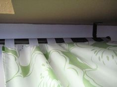 Simple DIY Curtains from a bed sheet. Minimal sewing (or no-sew if you use hemming tape...)